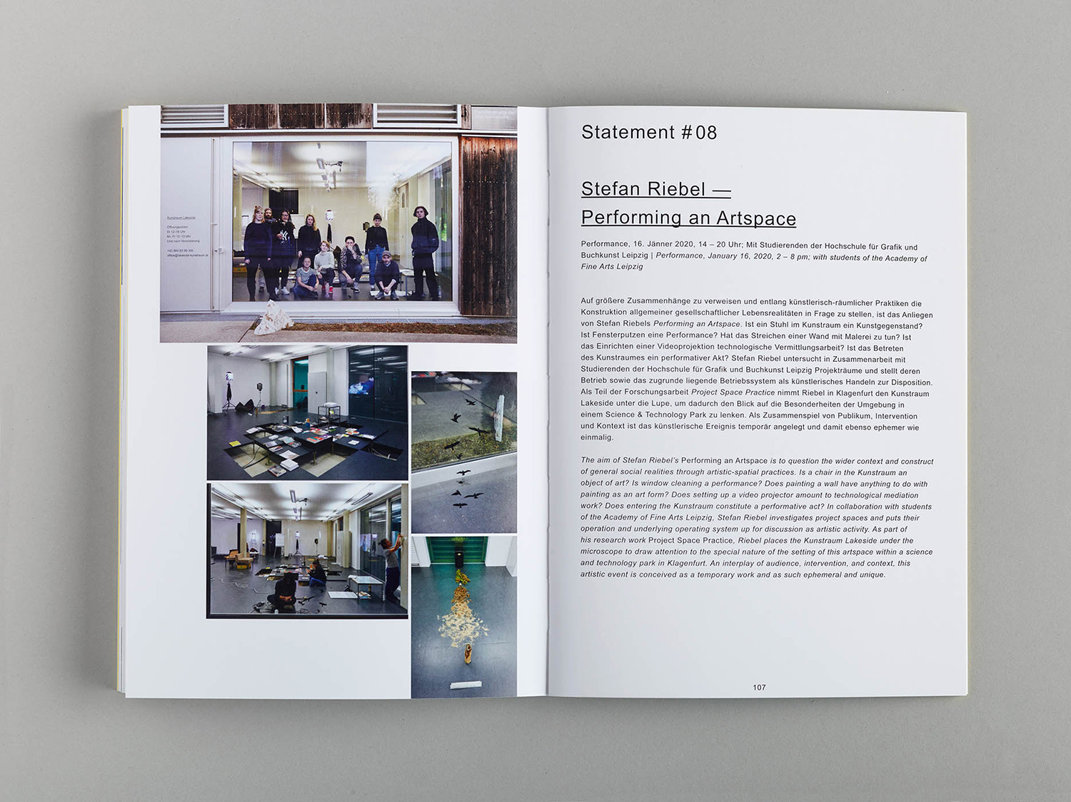 Kunstraum Lakeside — Prozess | Process, Design: Studio Kehrer, Photo: Johannes Puch